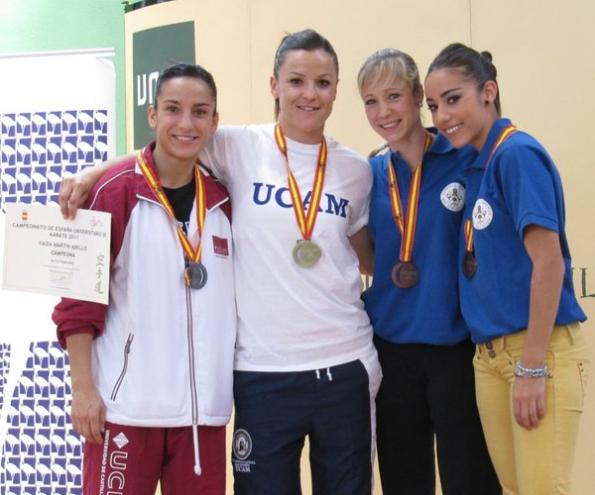 Campeonato de espa a universitario karate 2011 emilio merayo - Vanesa pascual ...